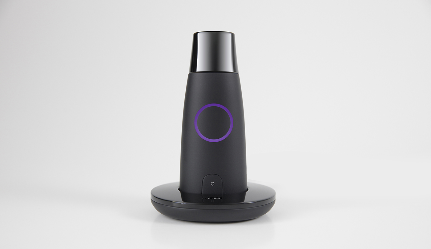 lumen metabolism breathalyzer device and charging dock