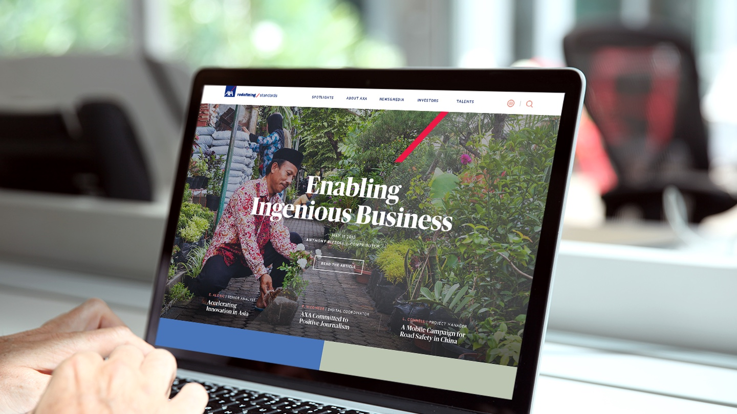 AXA redefined web experience with warm and approachable visual language