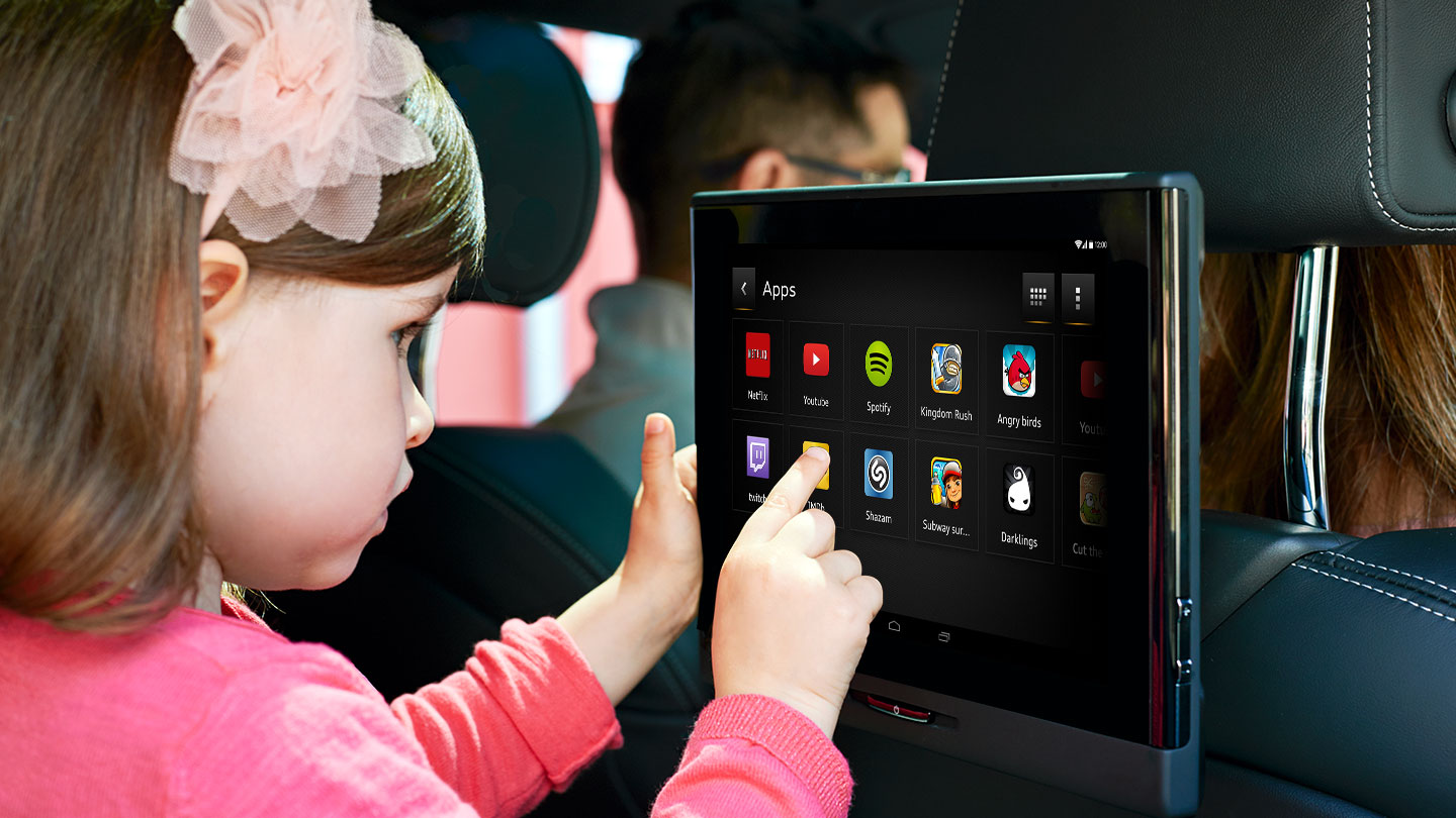 Audi Entertainment mobile featuring child-friendly UI