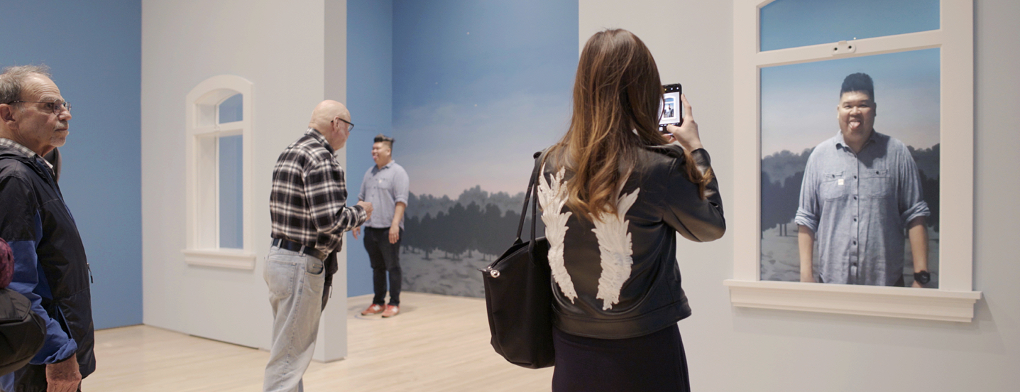 Visitors experience artworks in augmented reality at SFMOMA
