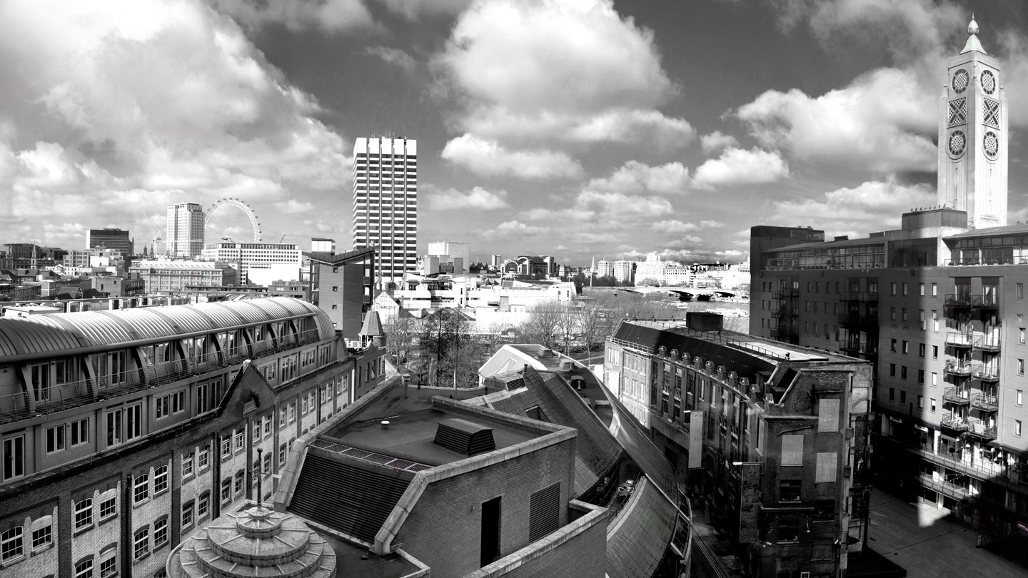 London city view in Black and White