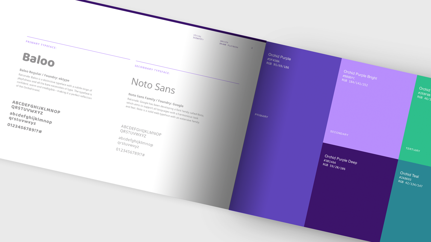 Defining brand guidelines for Orchid - typography rules