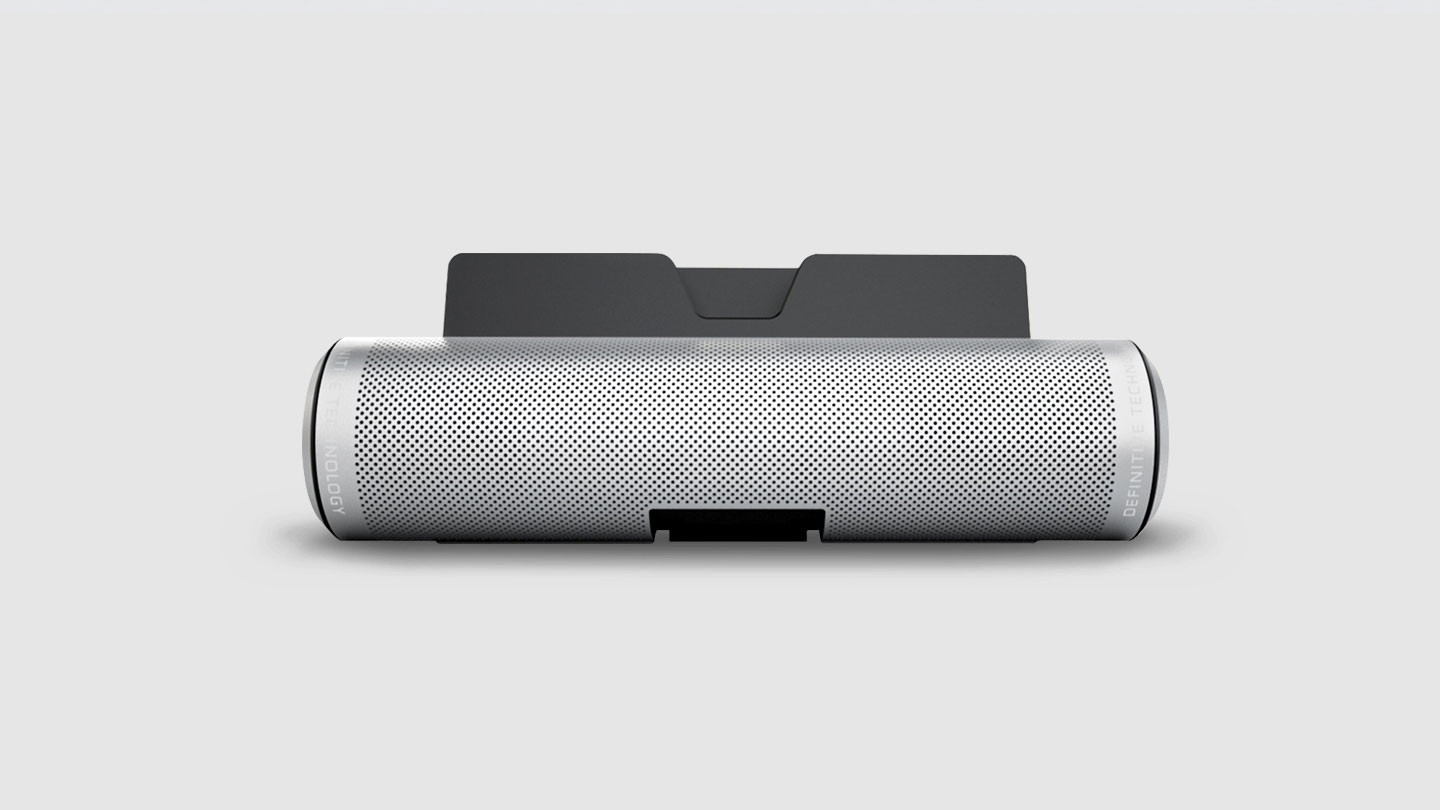 Silver Sound Cylinder bluetooth speaker tailored for tablets
