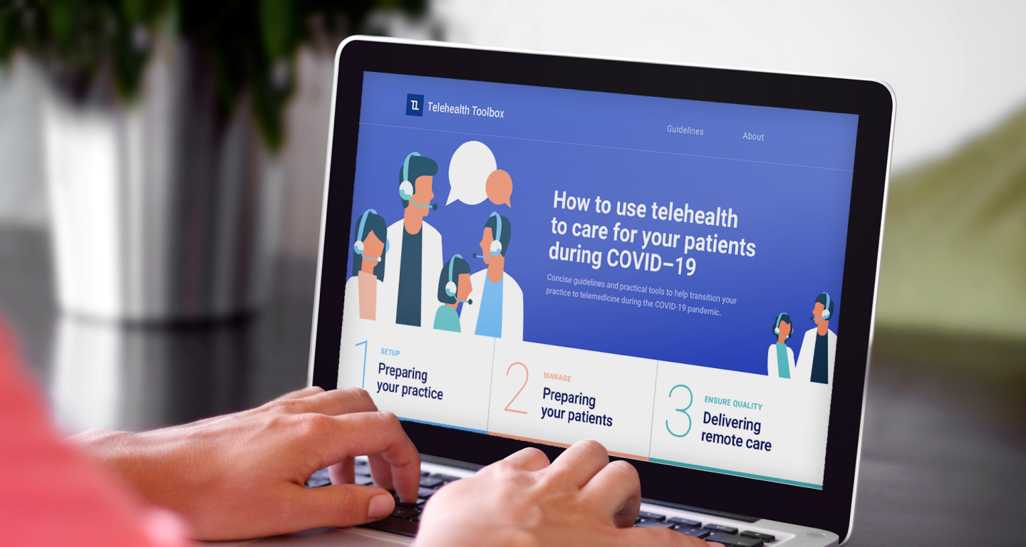 Telehealth telemedicine toolbox for doctors UI design